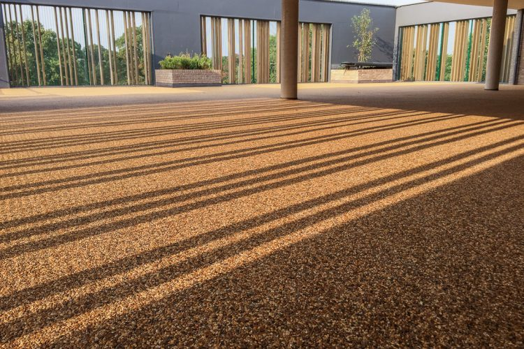 Safe Roof Top Play – Resin bound paving